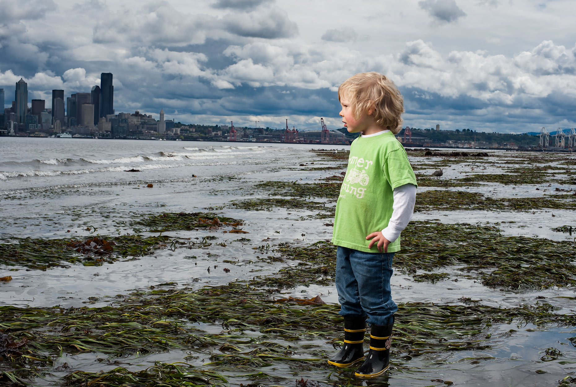 Editorial portrait of a young boy in Seattle. Jim Meyers / Vertizonphoto